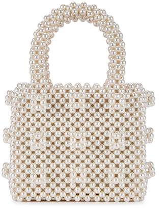 Shrimps Antonia Mini Faux Pearl Beaded Top Handle Bag