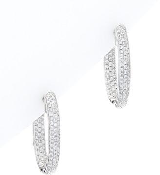 Diana M 18K 1.00 Ct. Tw. Diamond Hoops