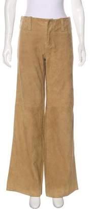 Ralph Lauren Mid-Rise Suede Pants