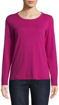 ST. JOHN'S BAY Long Sleeve Round Neck T-Shirt