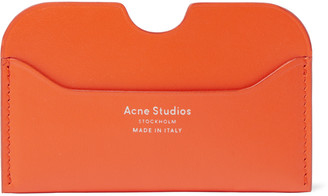 Acne Studios Elmas Logo-Print Leather Cardholder - Men - Orange