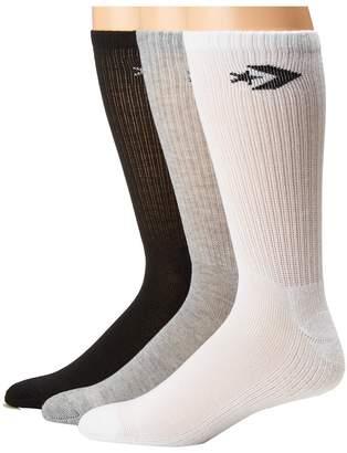 Converse 3-Pack Classic Star Chevron Crew Men's Crew Cut Socks Shoes