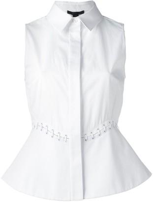 Alexander Wang lace-up detail sleeveless blouse