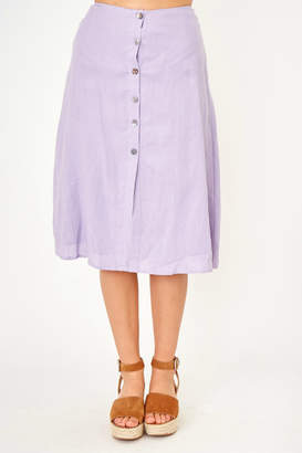 Olivaceous Button front skirt