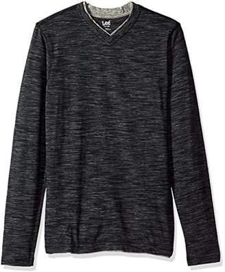 Lee Men's Tipping Long Sleeve Vneck Neck Shirt