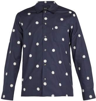 A.P.C. Sun circle-print cotton shirt