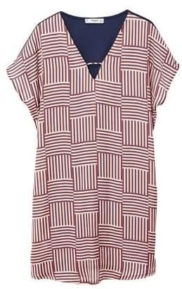 MANGO Contrasting design dress