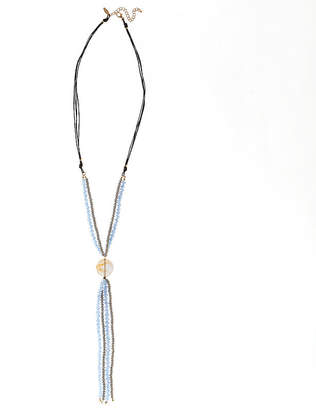 Natasha Accessories Womens Blue Beaded Necklace
