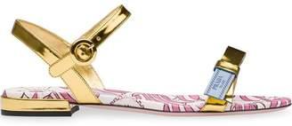 Prada Etiquette logo flat sandals