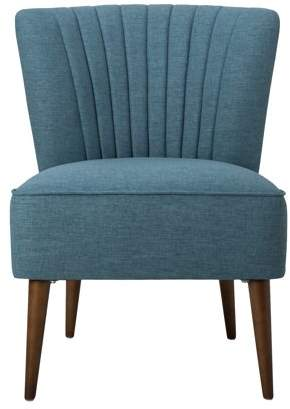 HomePop Armless Accent Chair with Channel Tufting, Multiple Colors