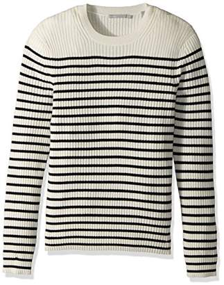 Vince Men's Bretton Stripe Cashmere Crew Sweater