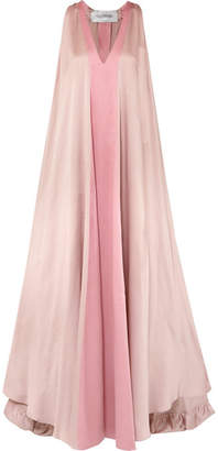 Two-tone Hammered Silk-satin Gown - Pink