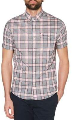 Original Penguin Electric Dobby Check Short-Sleeve Shirt