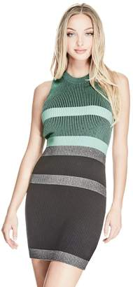 GUESS Merina Plaited Stripe Dress $89 thestylecure.com