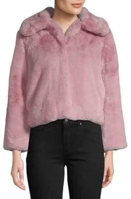 Topshop PETITE Velvet Faux Fur Jacket