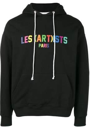 Les (Art)ists logo print hoodie