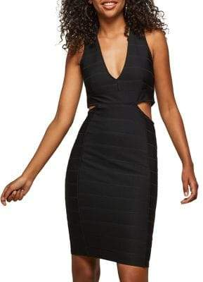 Miss Selfridge Cut Out Bandage Dress