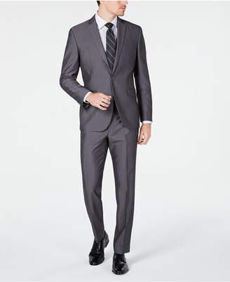 Kenneth Cole Unlisted Men Slim-Fit Medium Gray Stripe Suit