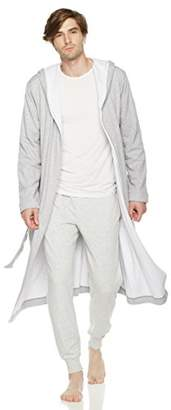 Rebel Canyon Young Men's Long Sleeve Thermal-Lined Soft Cotton Long Jersey Robe (
