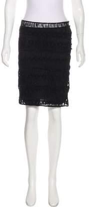 Diane von Furstenberg Crocheted Knee-Length Skirt