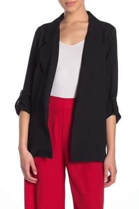 MELLODAY Notch Collar Roll-Up Sleeve Blazer (Regular & Petite)