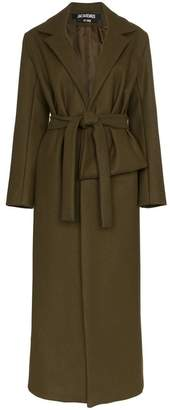 Jacquemus panel detail belted wool coat