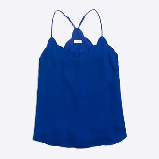 J.Crew Factory Scalloped cami top