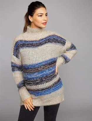 BCBGMAXAZRIA Pea Collection Striped Wool Maternity Sweater