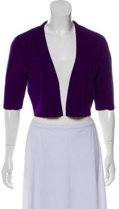 Akris Punto Cropped Wool Cardigan