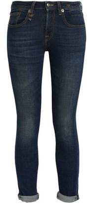 R 13 Kate Cropped Mid-Rise Skinny Jeans