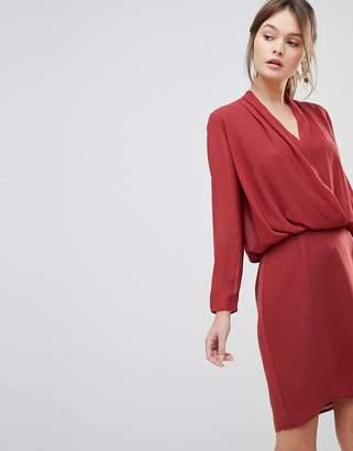 Reiss Long Sleeved Wrap Dress