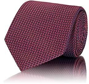 Brioni Men's Geometric Silk Jacquard Necktie - Pink