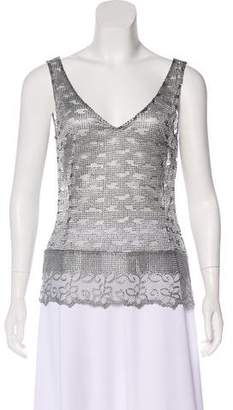 Collette Dinnigan Metallic Sleeveless Top