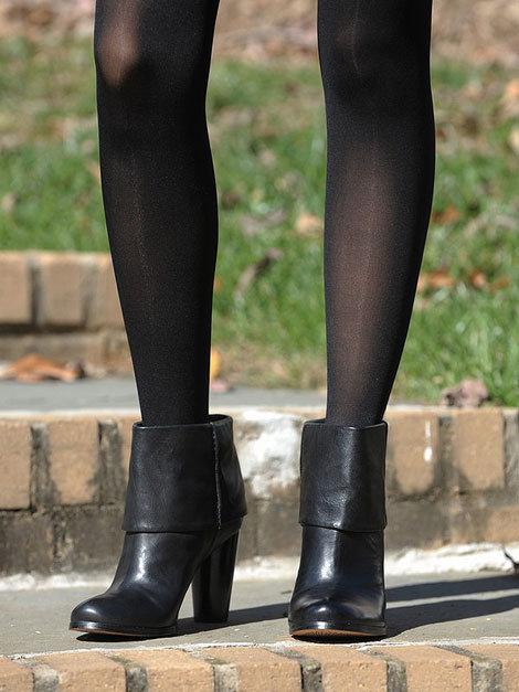 Modern Vintage.  Vanessa leather bootie