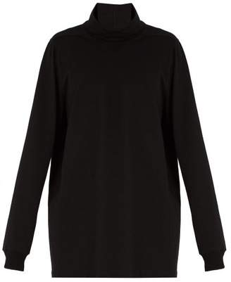 Rick Owens - Roll Neck Cotton Jersey Sweater - Mens - Black
