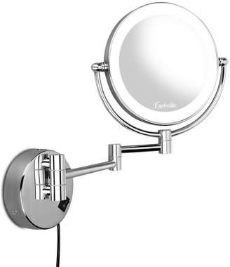 Dwelllifestyle Silver Embellir Extending LED Make-Up Mirror