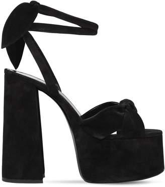 Saint Laurent 145mm Page Suede Platform Sandals