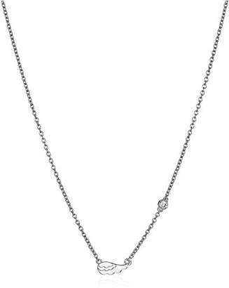 Shy by SE Wing Necklace with Diamond Bezel
