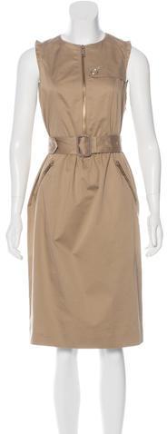 Burberry Burberry Sleeveless Midi Dress