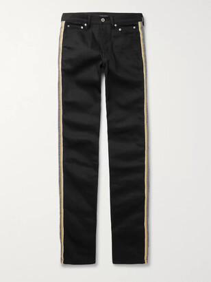 Takahiromiyashita Thesoloist. TAKAHIROMIYASHITA TheSoloist. - Striped Printed Denim Jeans - Men - Black