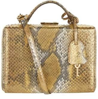 Mark Cross Small Metallic Python Grace Box Bag