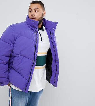 Asos Design DESIGN Plus oversized puffer jacket in purple