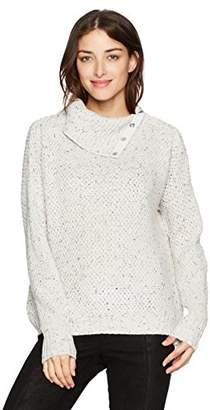 Michael Stars Women's Novelty Yarn Turtleneck Pullover with Snaps