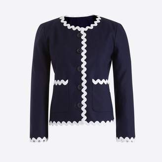 J.Crew Factory Lady jacket with rickrack trim