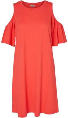 Vero Moda Ribbed Cold Shoulder Dress