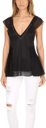 3.1 Phillip Lim Flutter Top With Bra Detail