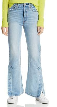 Levi's Rib Cage Split-Flare Jeans in Dazed and Confused