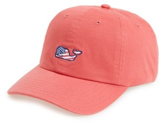 Men's Vineyard Vines 'Flag Whale Logo' Baseball Cap - Red $32 thestylecure.com