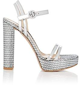 Gianvito Rossi Women's Specchio Leather & Textured Fabric Platform Sandals-Silver