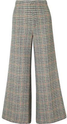 Isabel Marant Trevi Checked Tweed Wide-leg Pants - Green